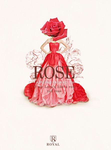 绕著结婚|礼服好曲:a red red rose