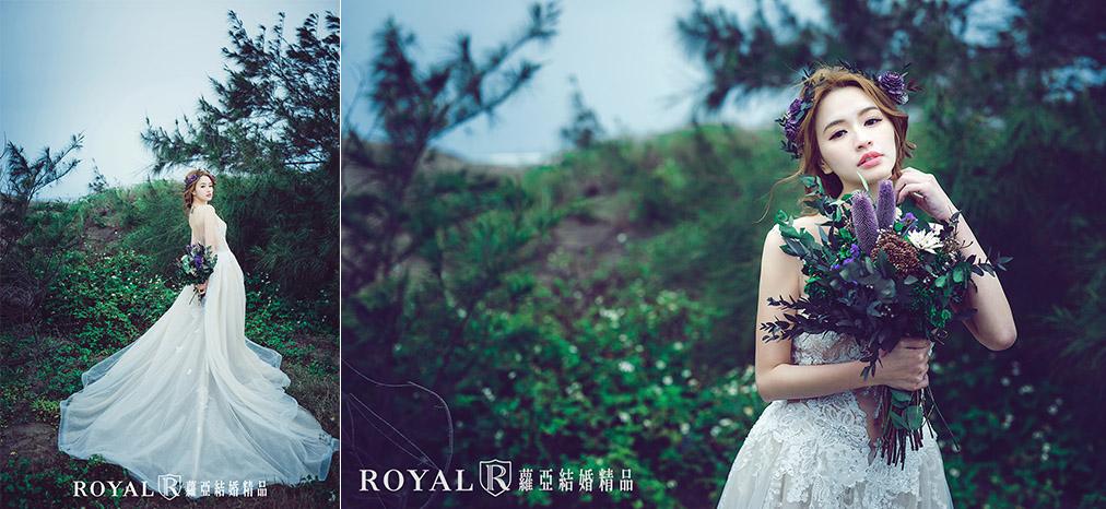 婚紗照姿勢-單人婚紗姿勢-新娘-三芝海邊-1-台北-婚紗照-蘿亞婚紗