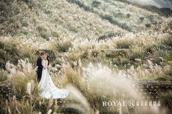 拍婚紗月份-拍婚紗季節-秋天婚紗-芒草-陽明山-台北-拍婚紗-蘿亞婚紗