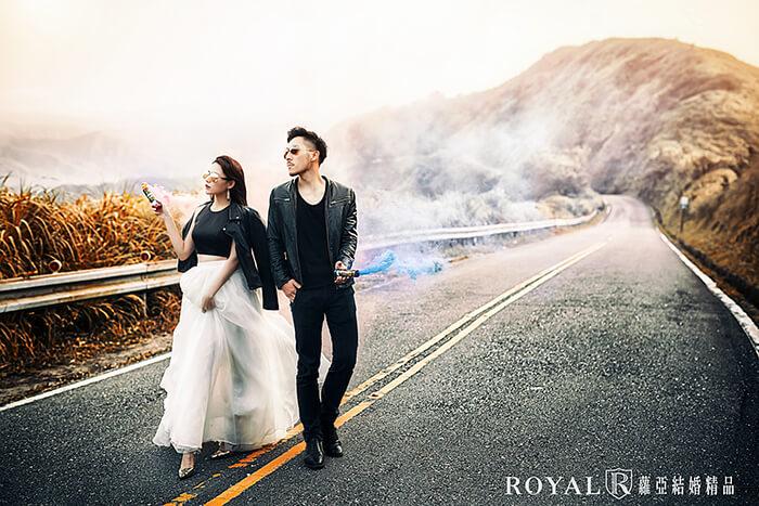 婚紗景點-東北角婚紗景點-九份婚紗-九份不厭亭-瑞雙公路-公路婚紗-個性婚紗照-台北婚紗推薦-蘿亞婚紗