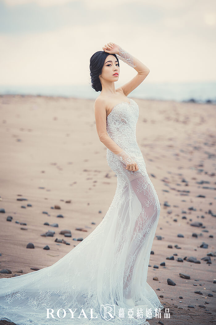 裸紗-性感婚紗-蕾絲裸紗-婚紗禮服-婚紗照-拍婚紗-婚紗推薦-台北-蘿亞婚紗