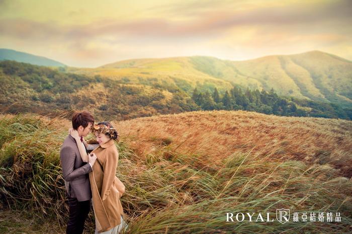 拍婚紗月份-拍婚紗季節-秋天婚紗-芒草-陽明山-冷水坑-台北-拍婚紗-蘿亞婚紗