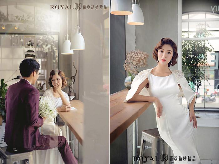 婚紗照風格-韓系婚紗-韓式髮型-魚尾婚紗髮型-台北-婚紗照-拍婚紗-蘿亞婚紗