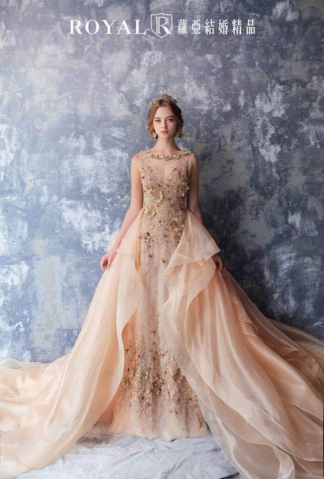 兩穿式婚紗禮服-婚紗款式2020-魚尾婚紗-手工婚紗