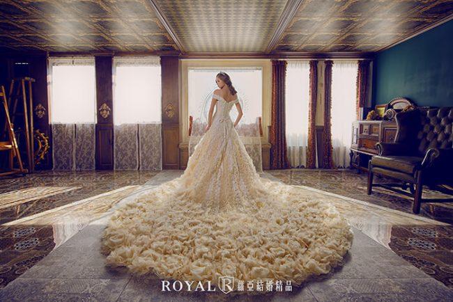 婚紗款式2019-卡肩白紗-卡肩婚紗-婚紗禮服款式
