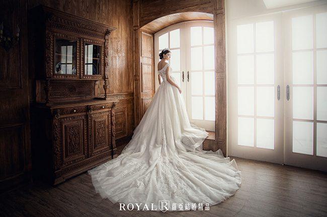 婚紗款式2019-婚紗禮服款式-卡肩婚紗-卡肩白紗