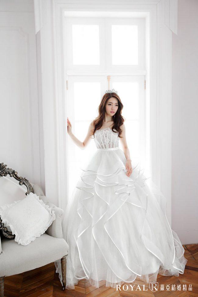婚紗款式2019-婚紗禮服款式-蓬裙婚紗-手工婚紗-蓬裙白紗