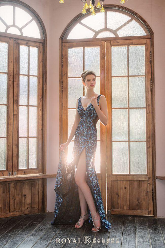 婚紗款式2019-魚尾婚紗-魚尾禮服-婚紗禮服款式-時裝婚紗-開衩婚紗