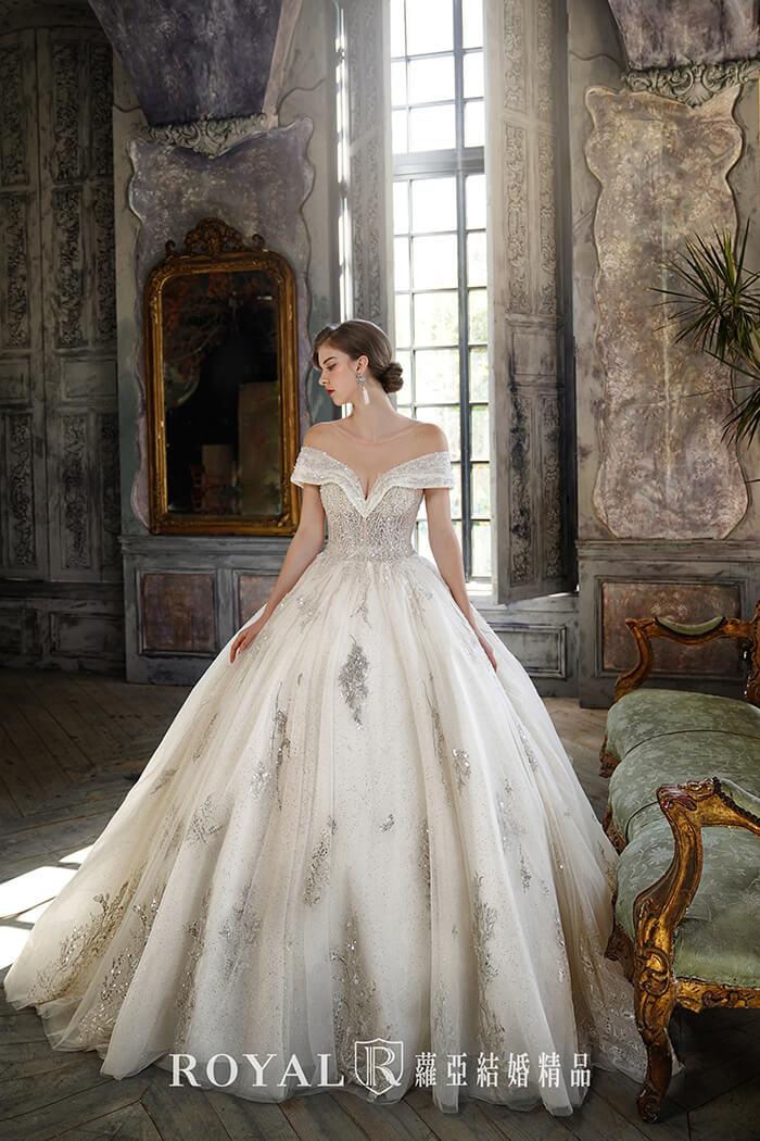 婚紗款式2020-婚紗禮服款式-卡肩婚紗-古典婚紗-卡肩白紗
