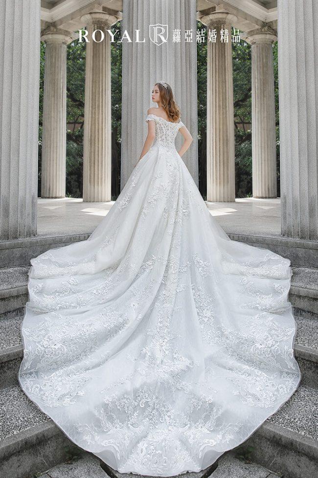婚紗款式2020-婚紗禮服款式-卡肩白紗-卡肩婚紗