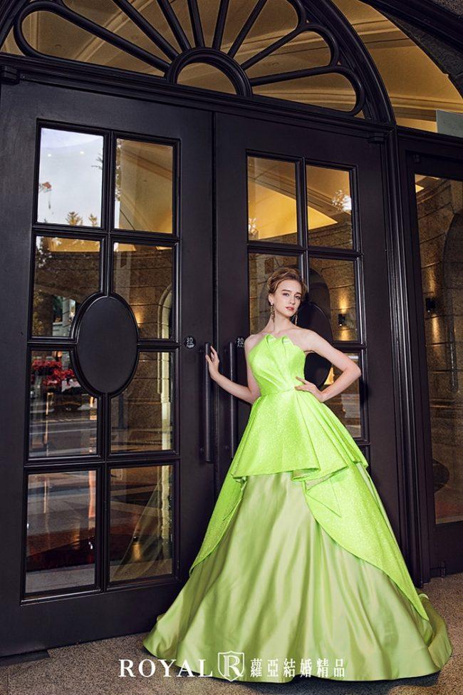 婚紗款式2020-婚紗禮服款式-蓬婚紗裙-螢光綠禮服-手工婚紗
