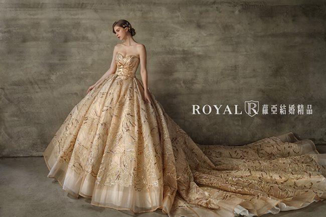 婚紗款式2020-婚紗禮服款式-蓬裙婚紗-金色禮服-華麗婚紗-桃心領婚紗