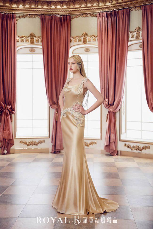 婚紗款式2020-緞面婚紗-魚尾婚紗-魚尾禮服-手工婚紗