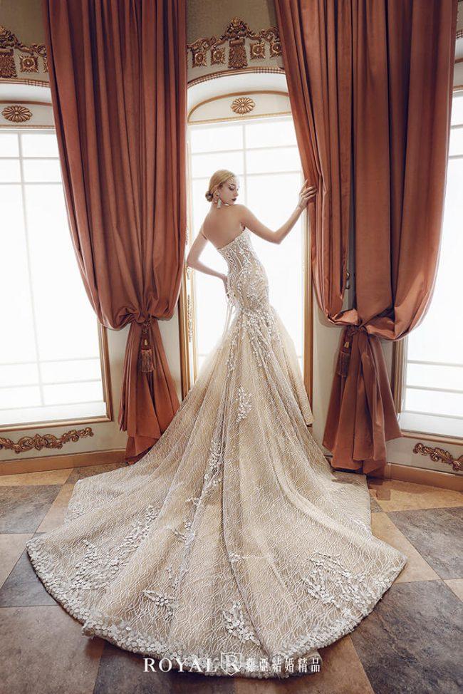 婚紗款式2020-魚尾婚紗-魚尾白紗-婚紗款式挑選