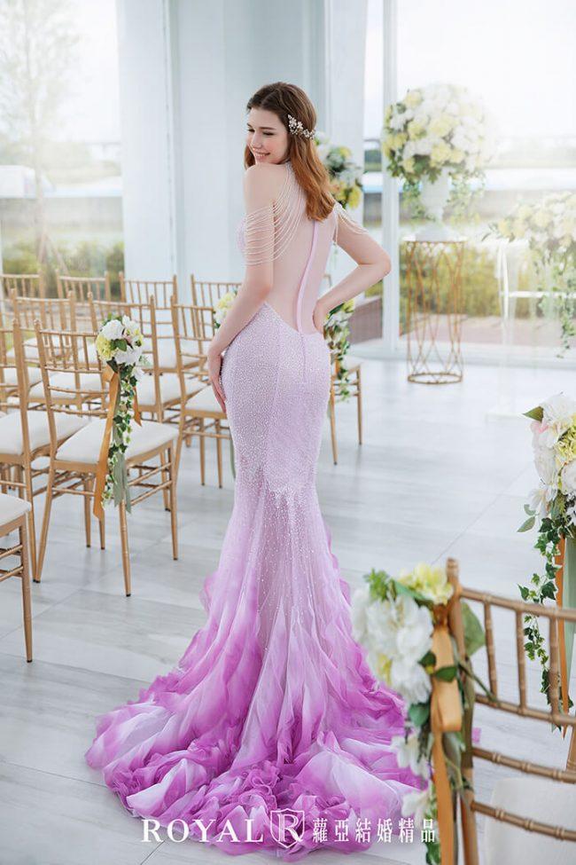 婚紗款式2020-魚尾婚紗-魚尾禮服-婚紗禮服款式-時裝婚紗-削肩婚紗
