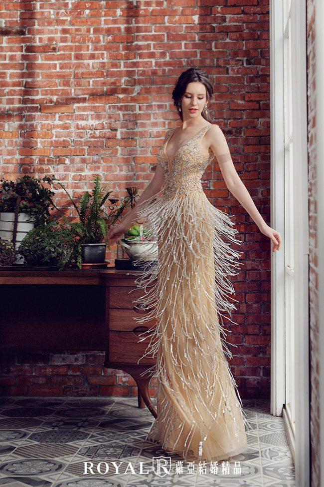 婚紗款式2020-魚尾婚紗-魚尾禮服-婚紗禮服款式-時裝婚紗-流蘇婚紗