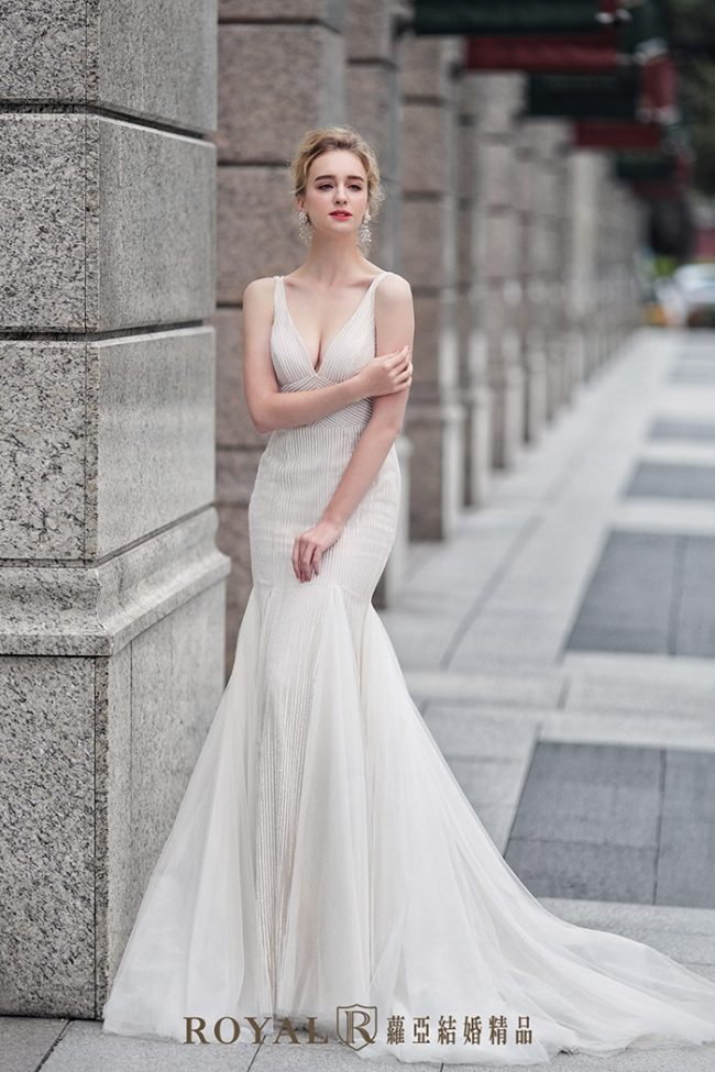 婚紗款式2020-魚尾婚紗-魚尾禮服-婚紗禮服款式-時裝婚紗-美背婚紗