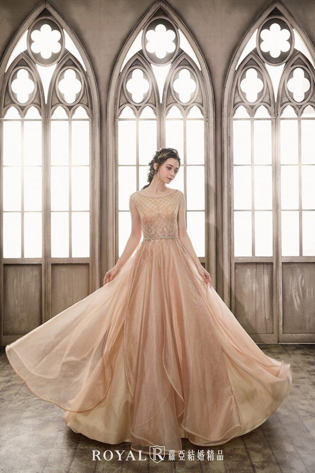 婚紗款式2020-a line婚紗-金色禮服-手工婚紗
