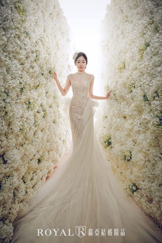 -婚紗禮服款式-中式婚紗-古典婚紗-魚尾婚紗-兩件式婚紗禮服