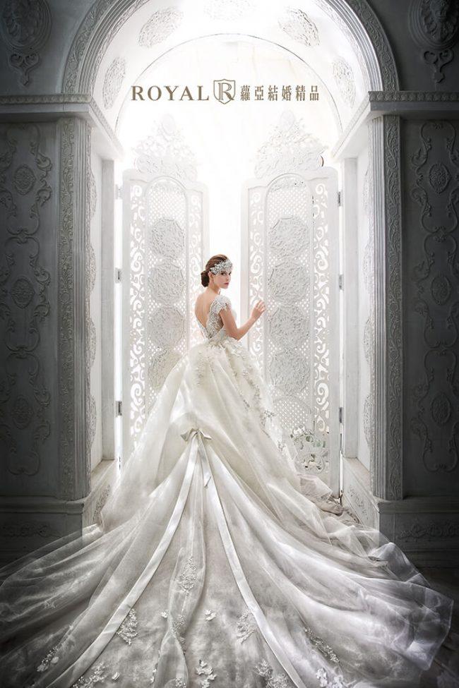 婚紗禮服款式-兩件式婚紗禮服-古典婚紗-手工婚紗