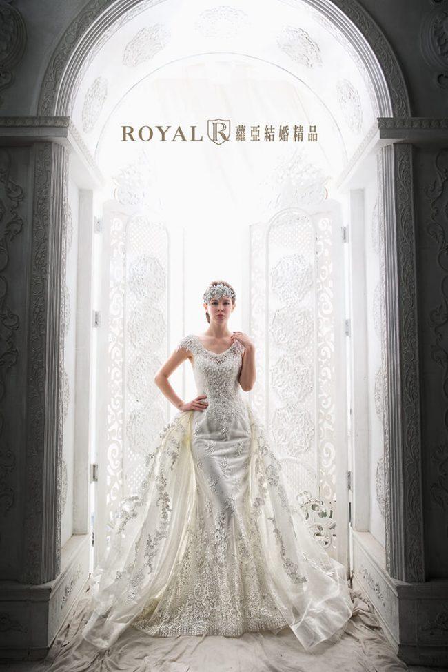 婚紗禮服款式-兩件式婚紗禮服-手工婚紗-古典婚紗