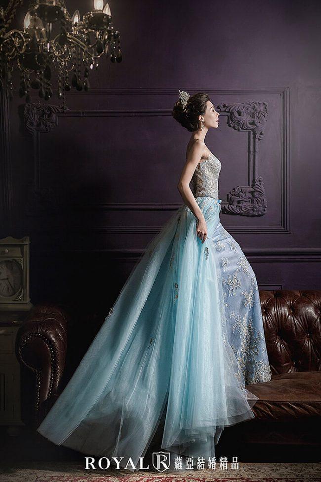 婚紗禮服款式-兩件式婚紗禮服-魚尾禮服-婚紗禮服款式2019
