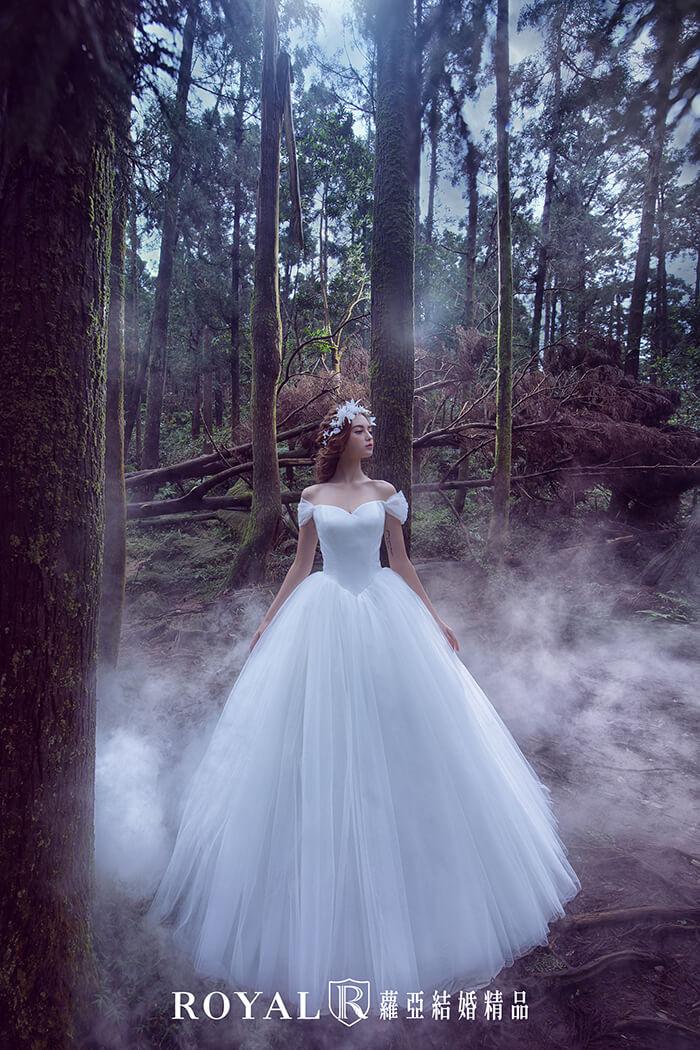 婚紗禮服款式-卡肩婚紗-卡肩白紗-公主風婚紗