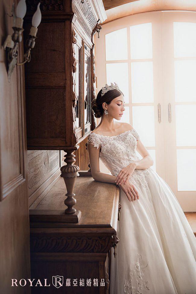 婚紗禮服款式-卡肩婚紗-卡肩白紗-婚紗款式2019