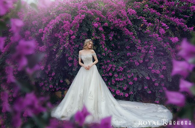 婚紗禮服款式-卡肩婚紗-卡肩白紗-宮廷風婚紗-卡肩禮服-婚紗款式2020