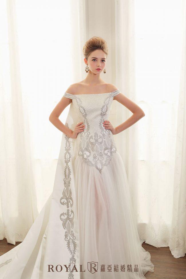 婚紗禮服款式-卡肩婚紗-卡肩白紗-手工婚紗-歐式婚紗-婚紗款式2020