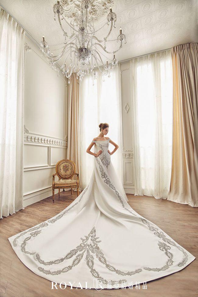 婚紗禮服款式-卡肩婚紗-卡肩白紗-手工婚紗-歐式婚紗-魚尾婚紗-古典婚紗