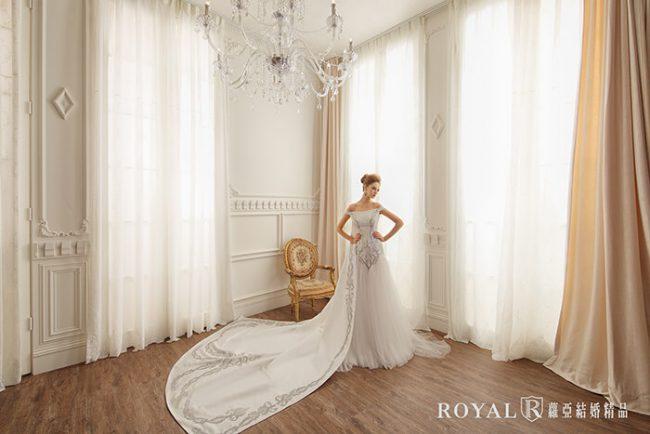 婚紗禮服款式-卡肩婚紗-卡肩白紗-手工婚紗-歐式婚紗-魚尾婚紗