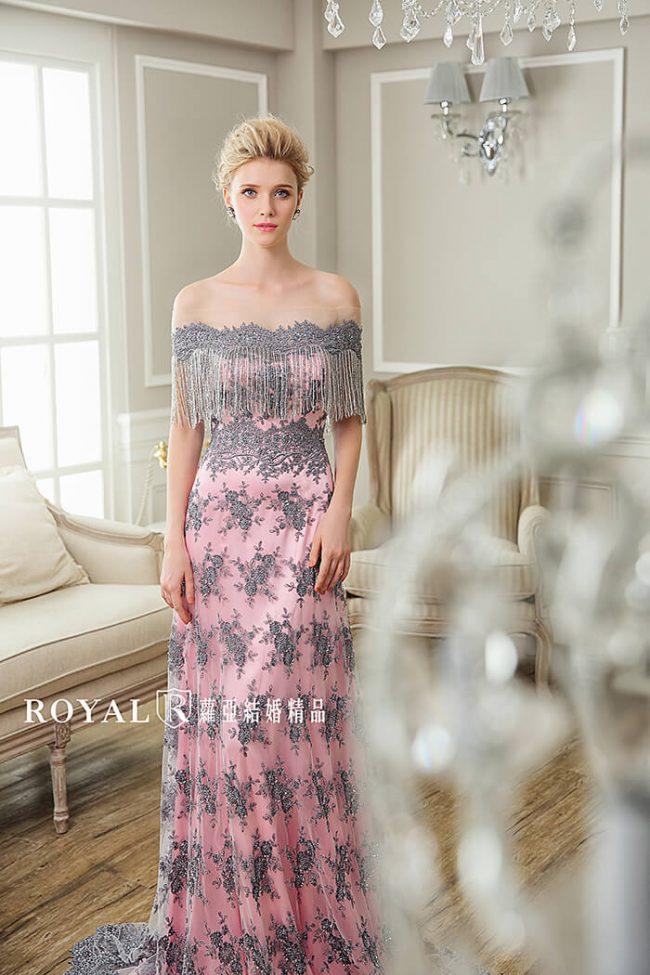 婚紗禮服款式-卡肩婚紗-卡肩禮服-婚紗款式2020-流蘇婚紗