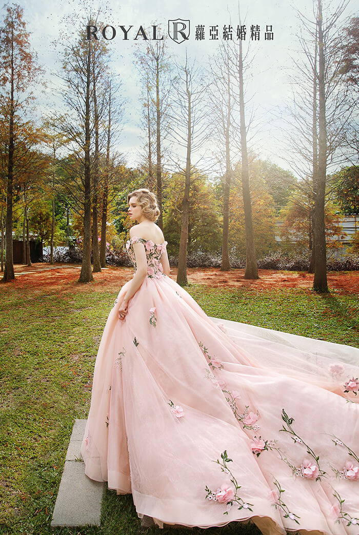 婚紗禮服款式-卡肩禮服-卡肩婚紗-婚紗款式2020-澎裙婚紗