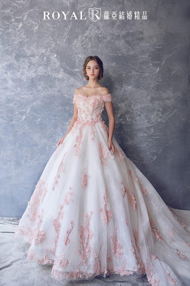 婚紗禮服款式-婚紗款式2019-卡肩婚紗-卡肩禮服-澎裙禮服