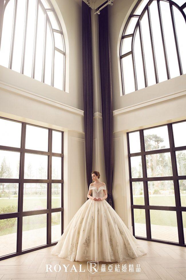 婚紗禮服款式-婚紗款式2020-卡肩婚紗-卡肩白紗-古典婚紗