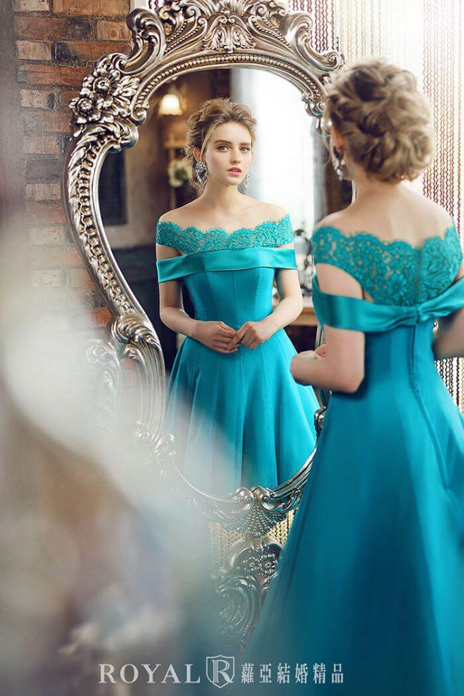 婚紗禮服款式-婚紗款式2020-卡肩婚紗-卡肩禮服-古典婚紗