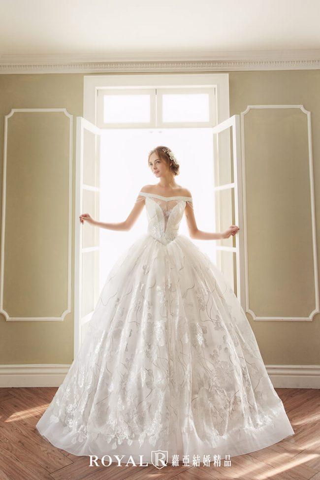 婚紗禮服款式-婚紗款式2020-手工婚紗-卡肩婚紗-卡肩白紗-古典婚紗