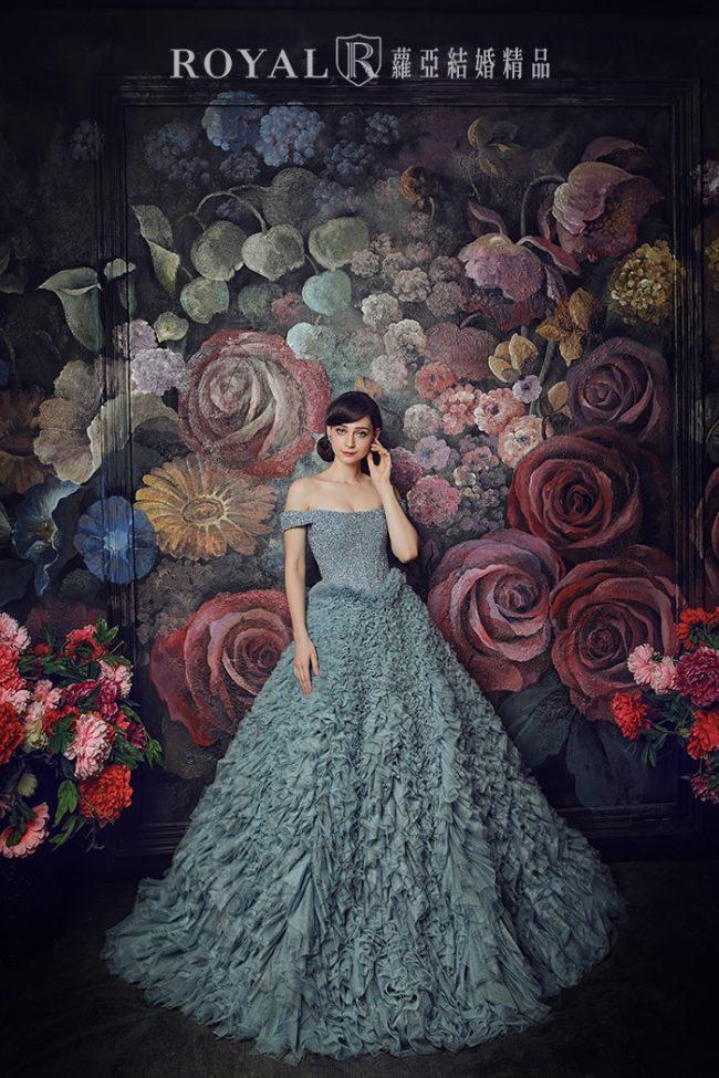 婚紗禮服款式-手工婚紗-卡肩禮服-卡肩婚紗-婚紗款式2020
