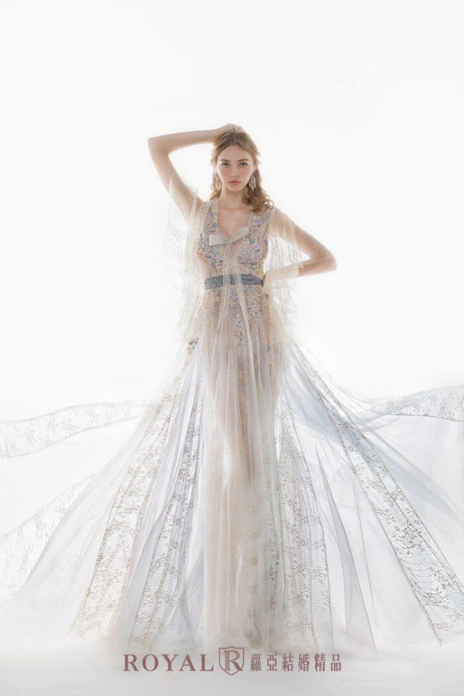 婚紗禮服款式-手工婚紗-特殊袖型-魚尾婚紗-婚紗禮服2020