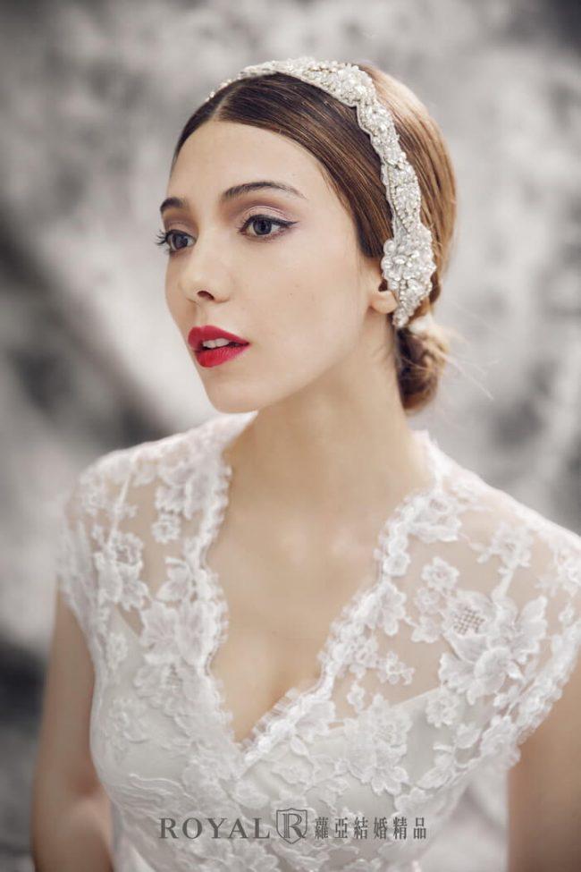 婚紗禮服款式-手工婚紗-蕾絲白紗-魚尾白紗-古典婚紗