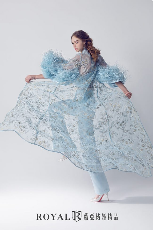 婚紗禮服款式-時裝婚紗-兩件式婚紗禮服-褲裝禮服