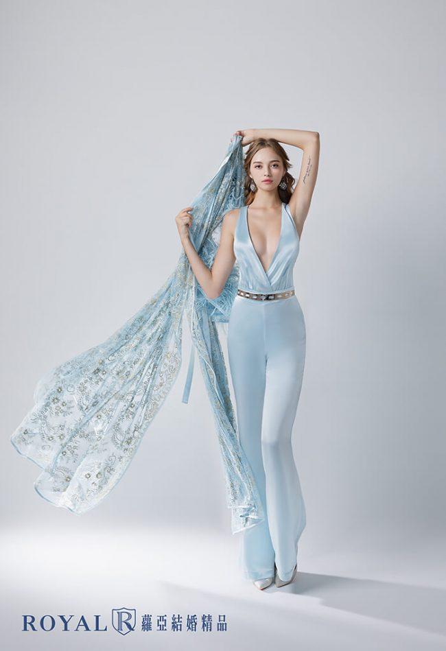 婚紗禮服款式-時裝婚紗-褲裝禮服-兩件式婚紗禮服