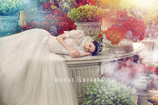 婚紗禮服款式-特殊袖型-古典婚紗-2020-手工婚紗