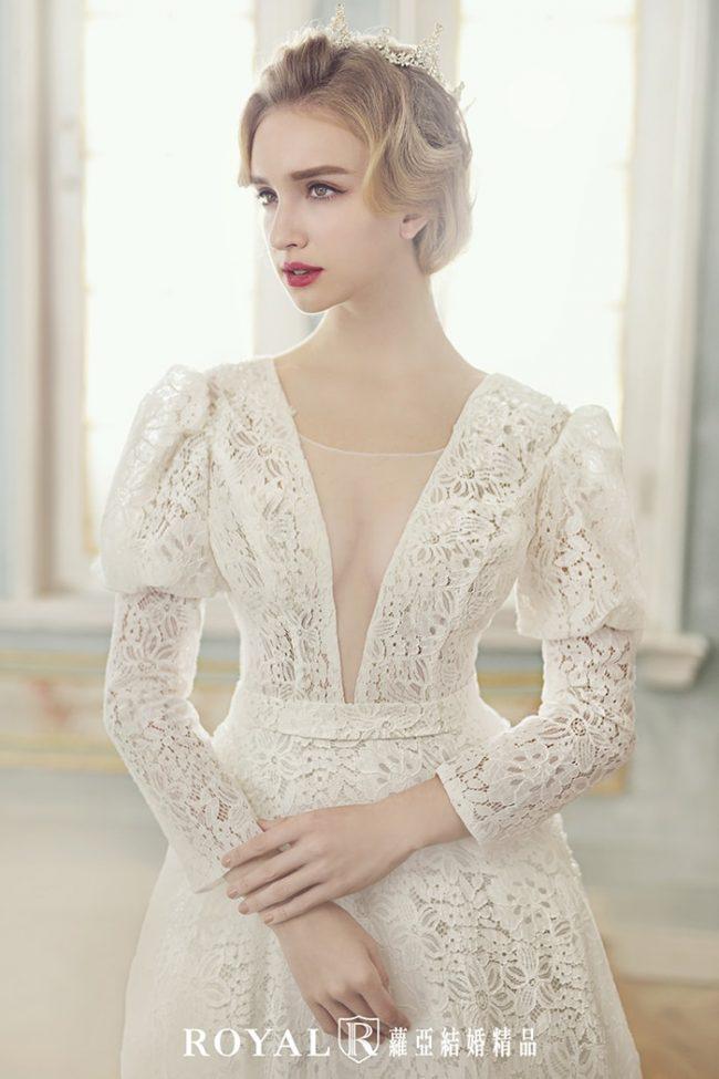 婚紗禮服款式-特殊袖型-古典婚紗-aline婚紗-婚紗款式2020