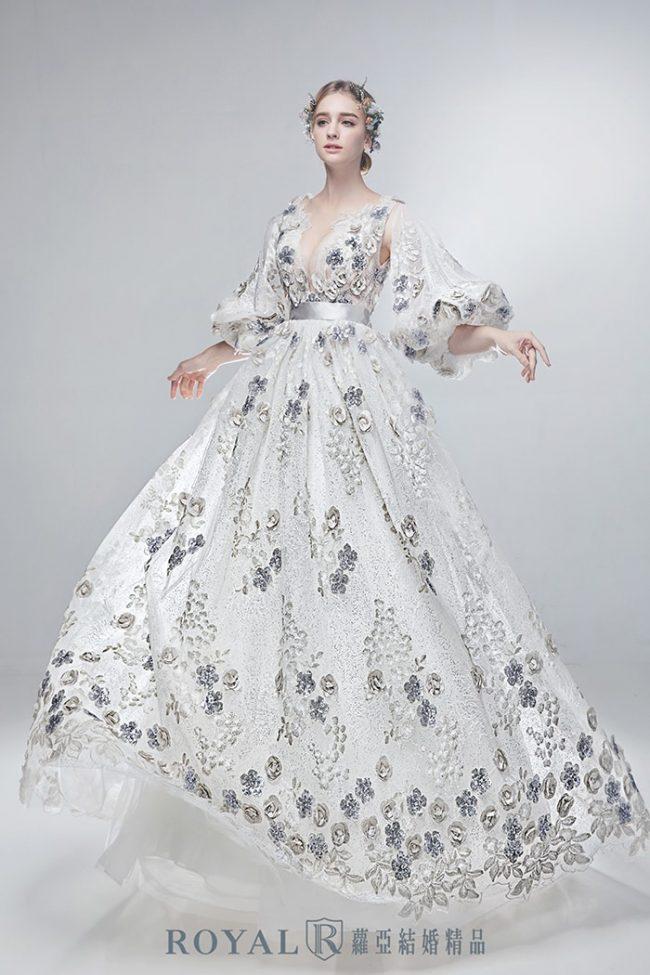 婚紗禮服款式-特殊袖型-婚紗款式2020-澎群禮服-手工婚紗