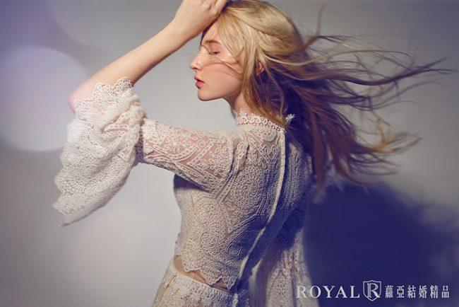 婚紗禮服款式-特殊袖型-婚紗款式2020-高領婚紗