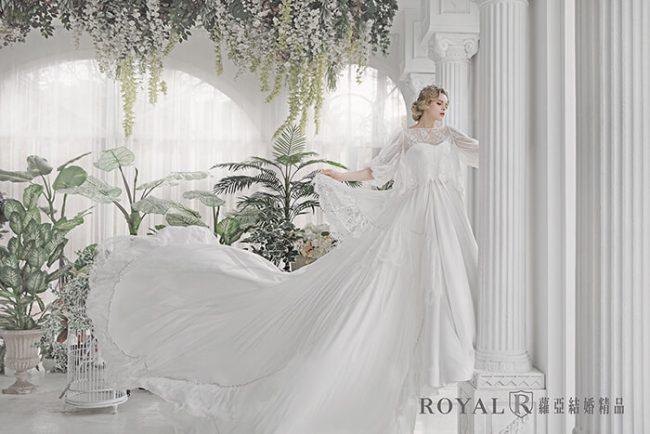 婚紗禮服款式-特殊袖型-婚紗款式2020-魚尾婚紗-手工婚紗-古典長袖婚紗