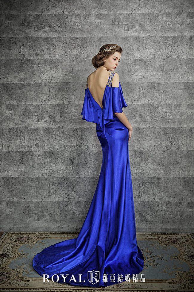 婚紗禮服款式-特殊袖型-婚紗款式2020-魚尾婚紗-緞面婚紗