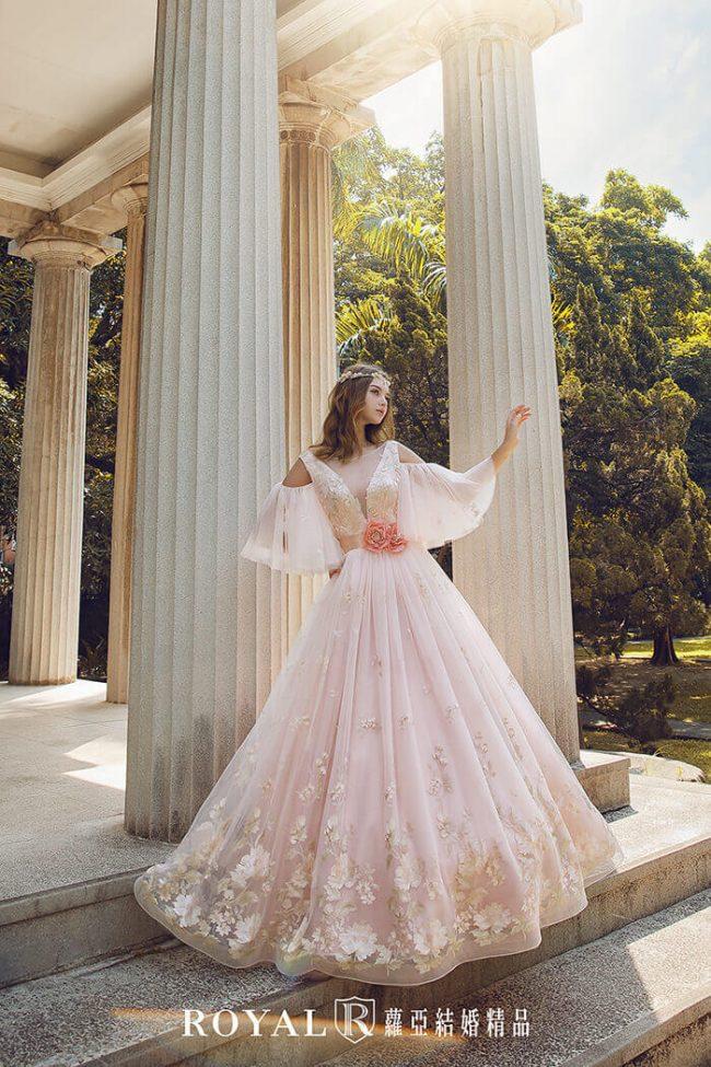 婚紗禮服款式-特殊袖型-水袖婚紗禮服-婚紗款式2020-手工婚紗
